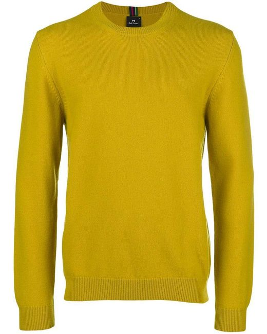 PS by Paul Smith - Yellow Crew Neck Jumper for Men - Lyst