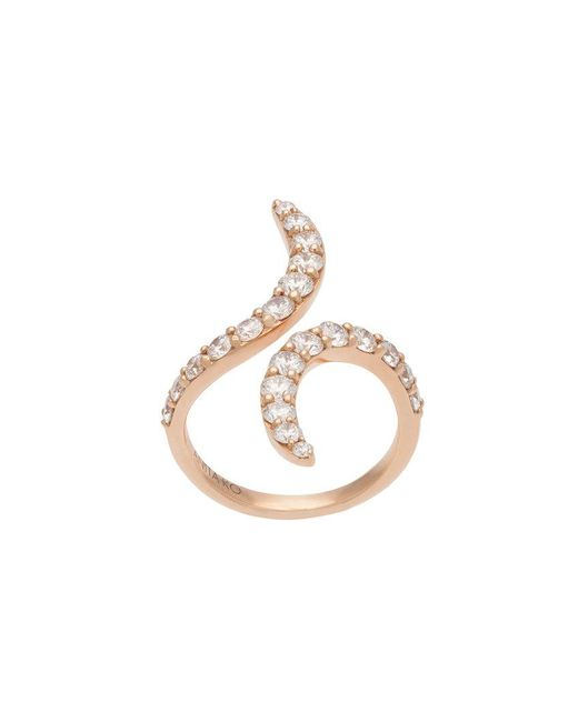Anita Ko - Metallic Swirl Open Ring - Lyst