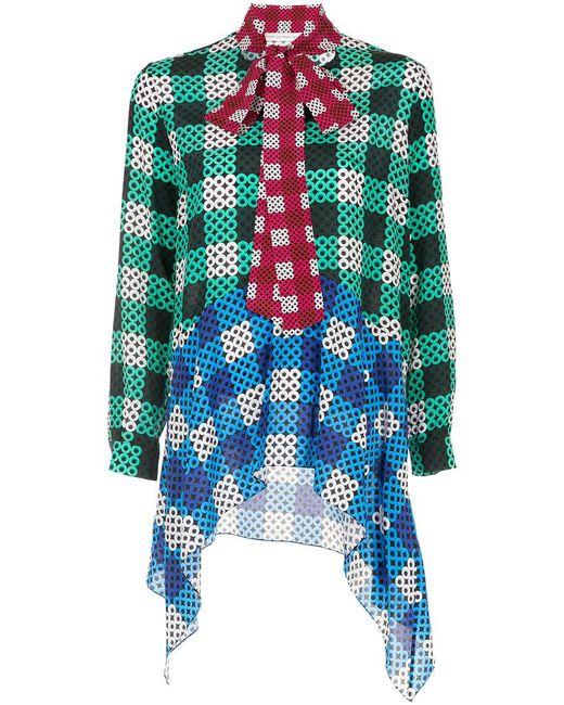 Mary Katrantzou - Multicolor Geometric Print Pussy Bow Shirt - Lyst