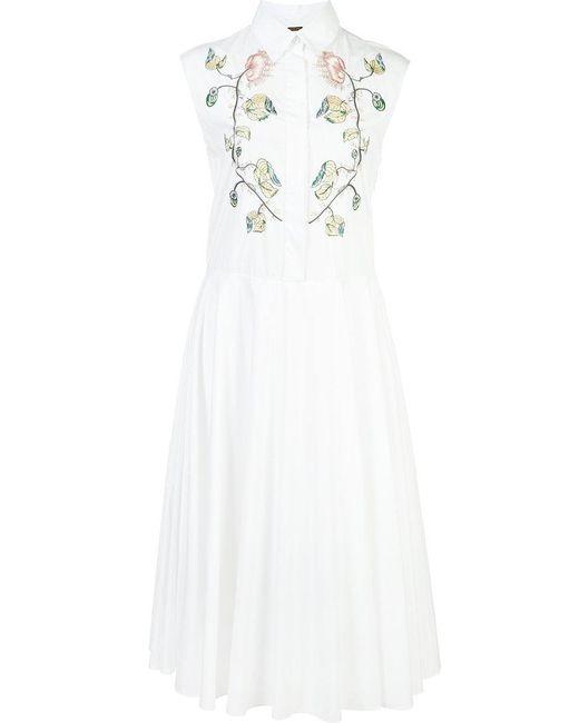 Adam Lippes   White Sleeveless Shirt Dress   Lyst