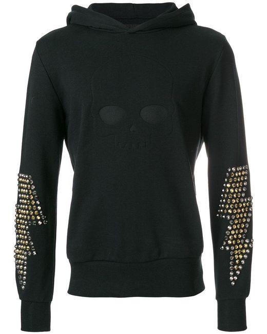 Hydrogen | Black Studded Sleeves Hoodie for Men | Lyst