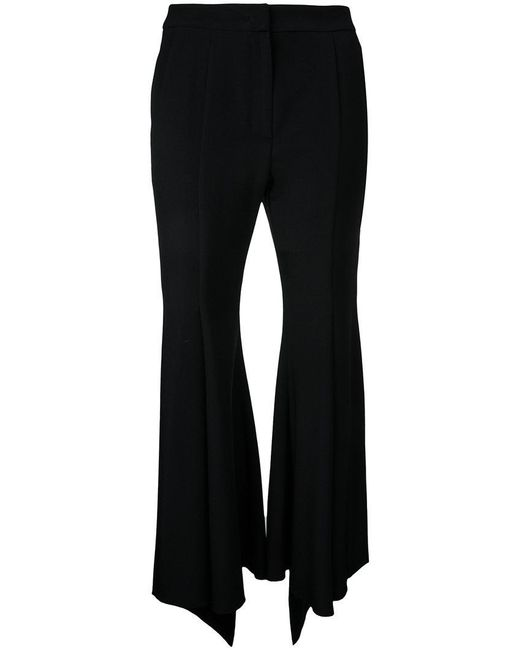 Goen.J | Black Crop Flared Trousers | Lyst
