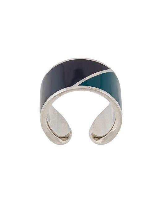 Lanvin - Blue Colour-block Ring - Lyst