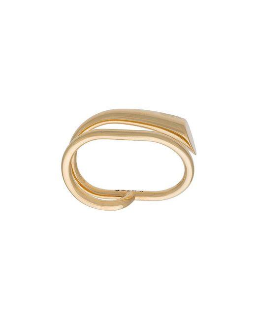 Charlotte Chesnais - Metallic Double Ring - Lyst