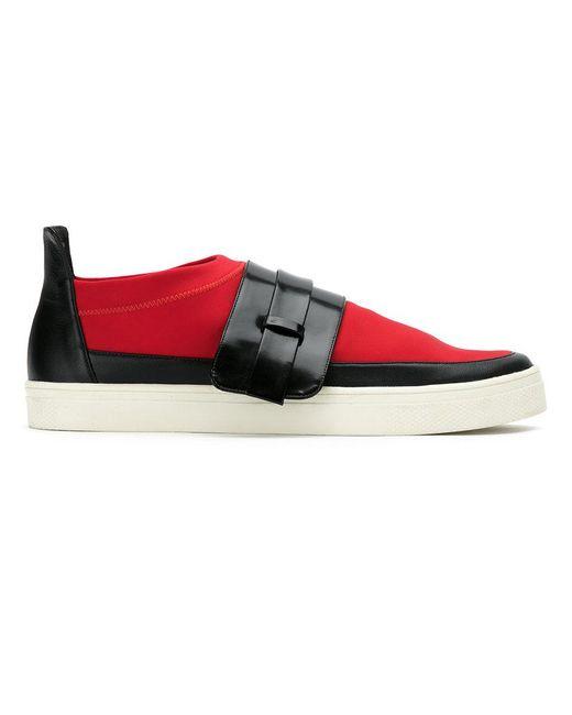 Gloria Coelho - Red Color Blocked Sneakers - Lyst
