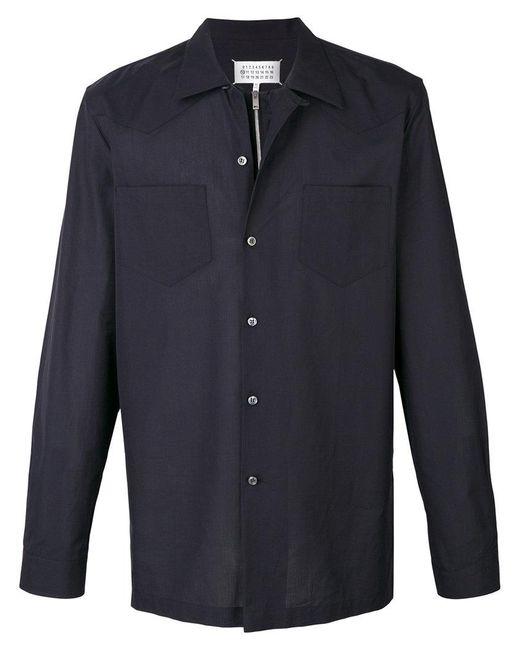 Maison Margiela | Black Button Over Zipped Shirt for Men | Lyst