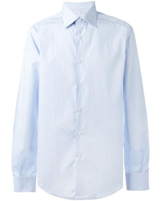 Fashion Clinic Timeless - Blue Classic Buttoned Shirt for Men - Lyst