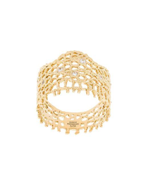 Aurelie Bidermann | Metallic Vintage Lace Ring | Lyst