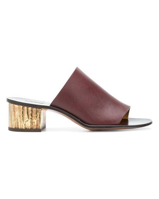 Chloé - Multicolor Block Heel Mules - Lyst