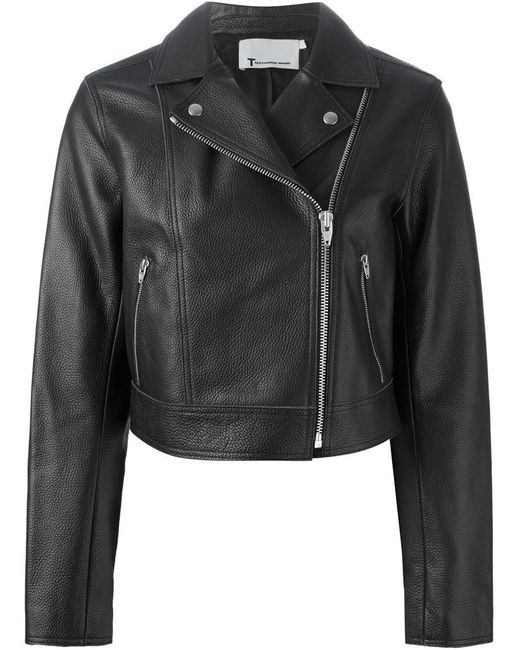 T By Alexander Wang | Black Classic Biker Jacket | Lyst
