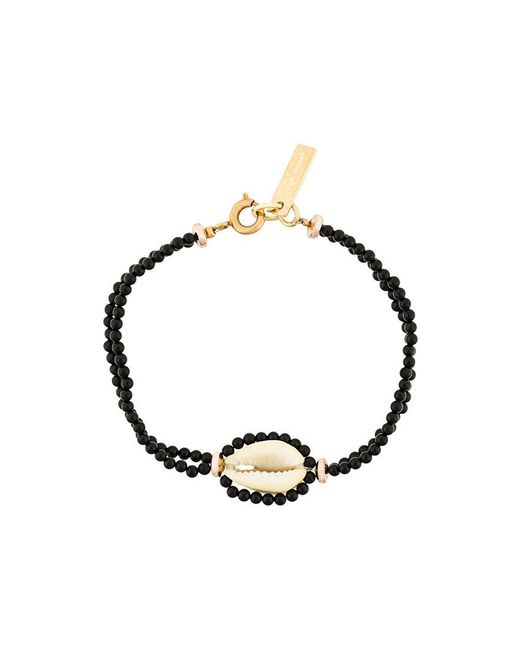 Isabel Marant - Black Shell And Bead Bracelet - Lyst