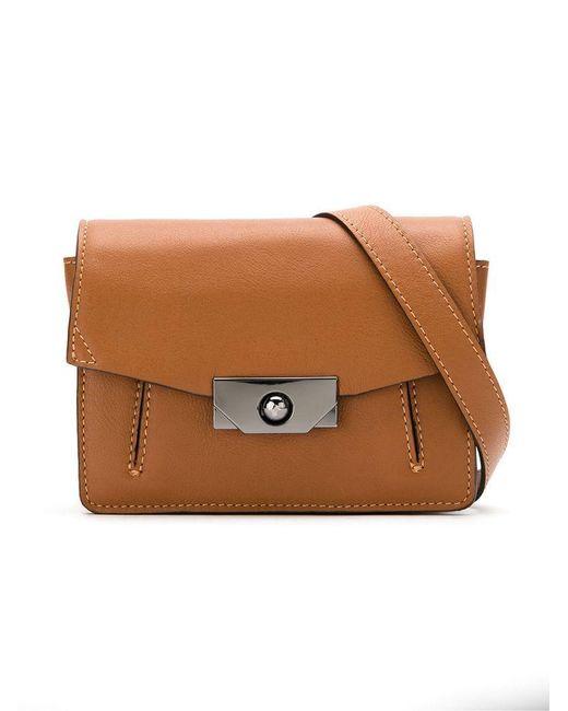 Mara Mac - Brown Leather Crossbody Bag - Lyst