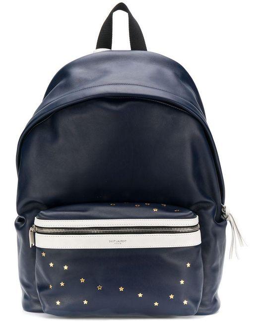 44b15a8d9f Saint Laurent - Blue City Backpack for Men - Lyst ...