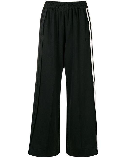 Y-3 - Black Wide-leg Track Pants - Lyst