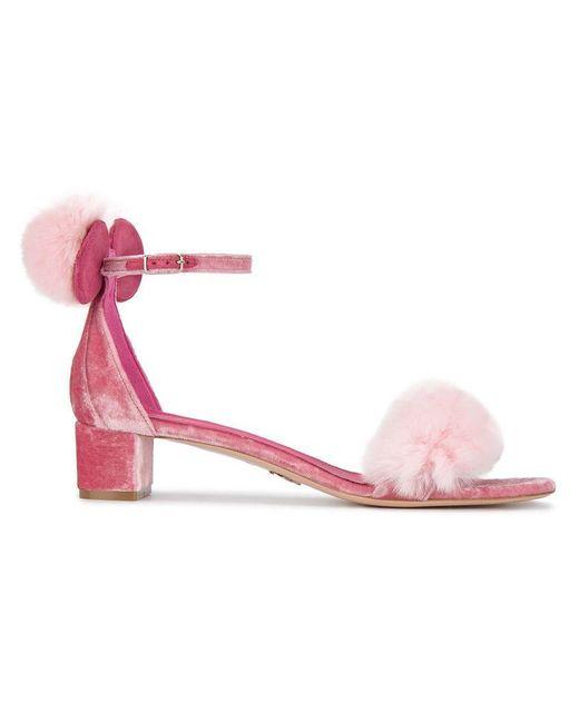 Oscar Tiye - Pink Minnie 40 Mink Fur Sandals - Lyst