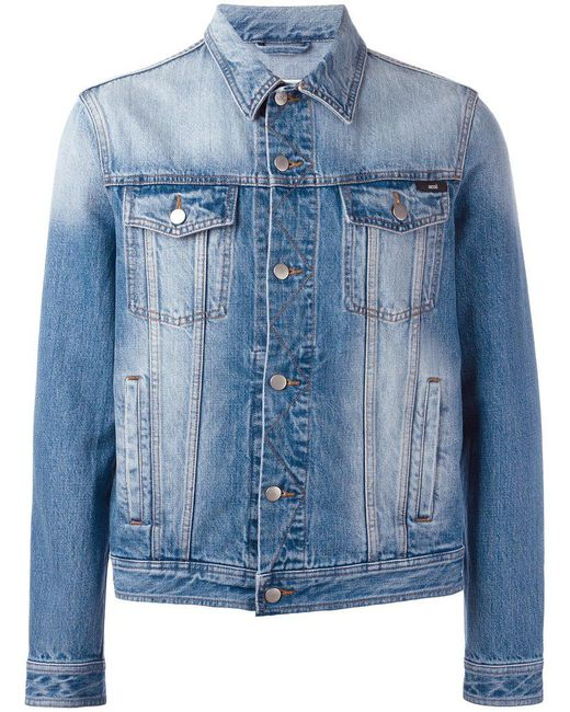 AMI | Blue Denim Jacket for Men | Lyst