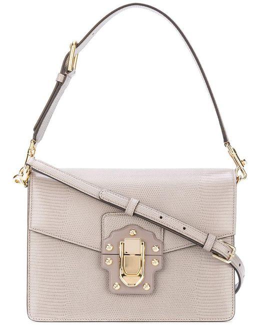 Dolce & Gabbana   Gray Lucia Shoulder Bag   Lyst