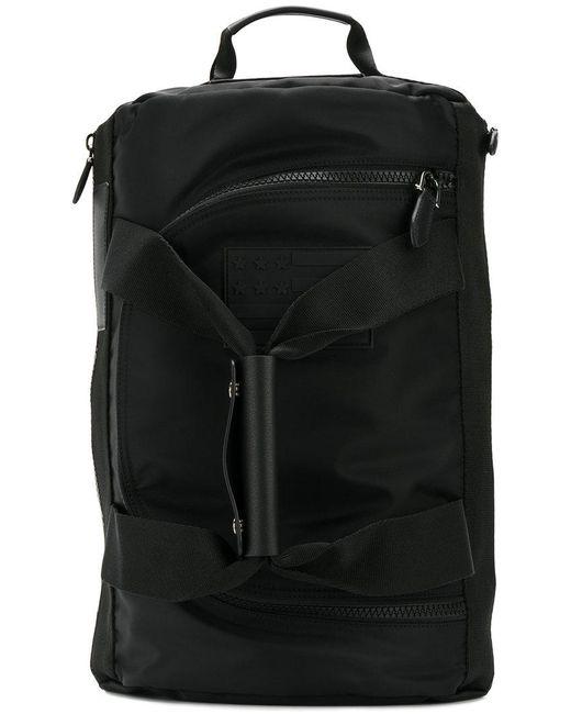 Givenchy - Black Logo Plaque Backpack for Men - Lyst