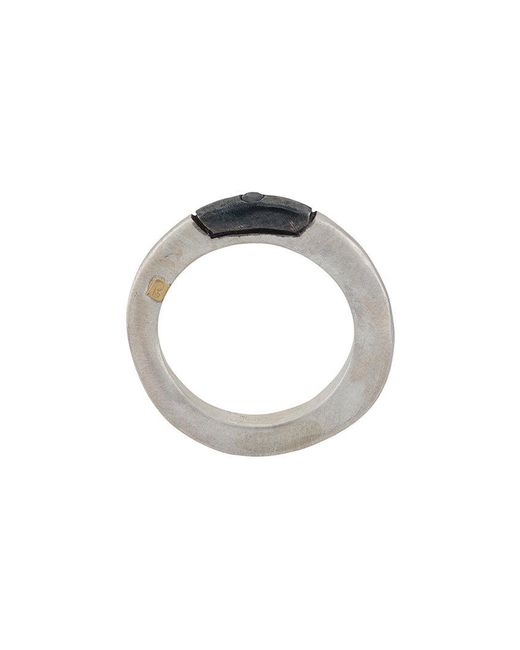 Rosa Maria - Gray Studded Ring for Men - Lyst