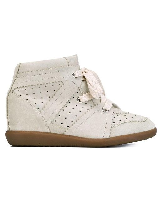 Isabel Marant - Natural Étoile 'bobby' Concealed Wedge Sneakers - Lyst