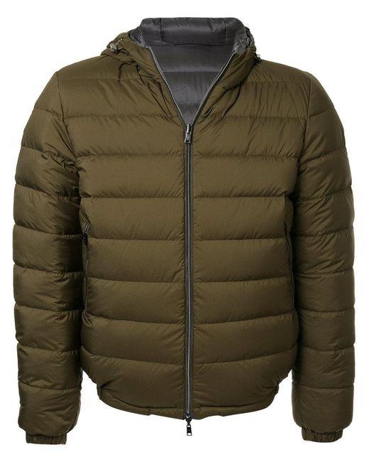 Herno - Green Hooded Padded Coat for Men - Lyst
