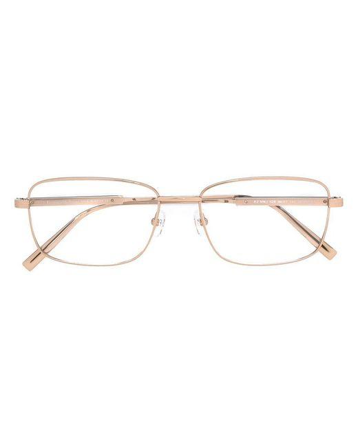 Ermenegildo Zegna   Metallic Square Frame Glasses for Men   Lyst