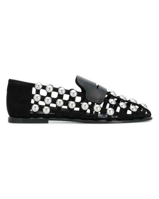 Alexander Wang - Black Studded Loafers - Lyst