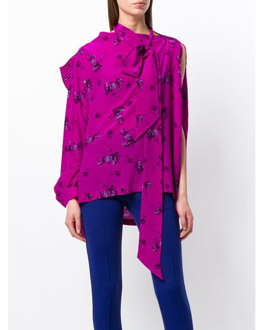 Multi Snaps Blouse - Pink & Purple Balenciaga