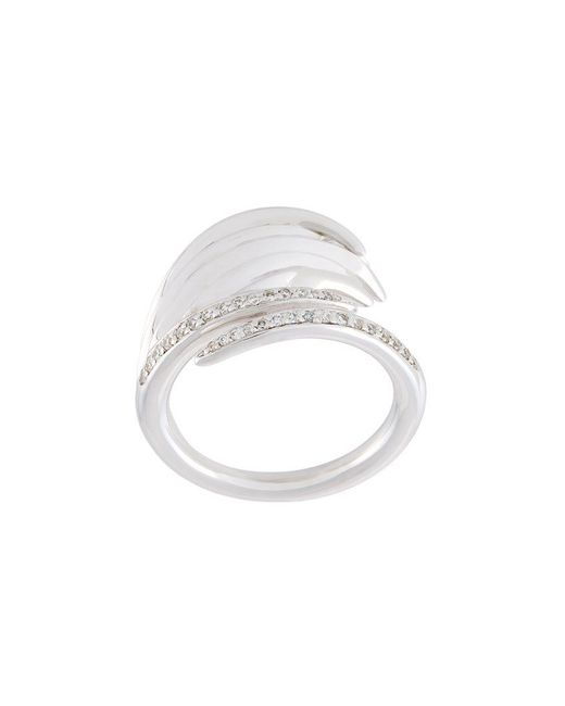 Shaun Leane - Metallic 'white Feather' Diamond Ring - Lyst