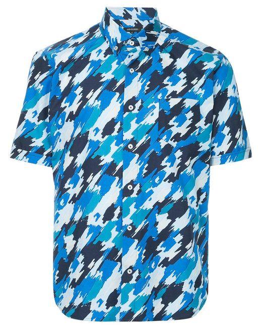Loveless - Blue Printed Shirt for Men - Lyst