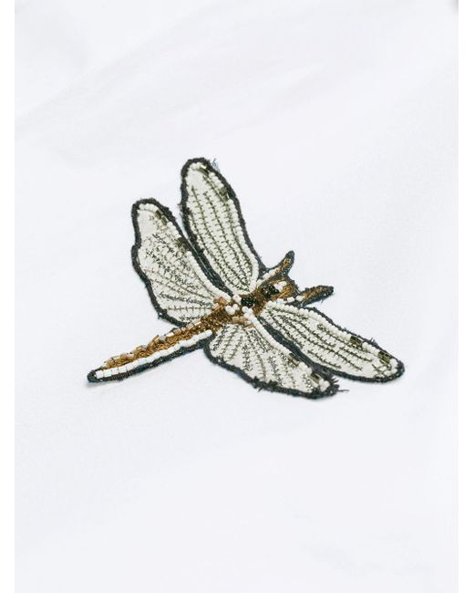 Lyst Valentino Dragonfly Embroidered Shirt In White For Men