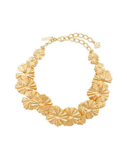 Oscar de la Renta - Metallic Wild Flower Necklace - Lyst
