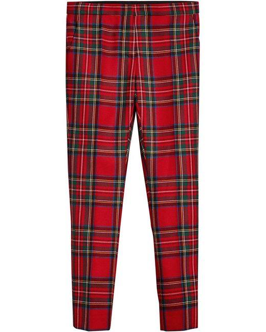 Burberry - Tartan Tailored Trousers - Lyst
