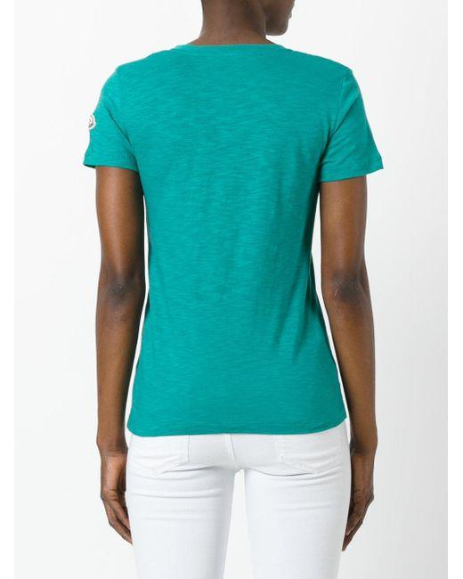 Moncler T-shirt Scollo gFB7Bensu