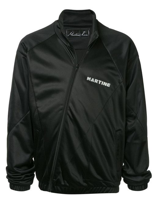 Martine Rose - Black Asymmetric Fastening Track Jacket for Men - Lyst