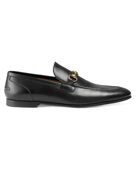 473e5962e Gucci Jordaan Leather Loafer in Black for Men - Save 9% - Lyst