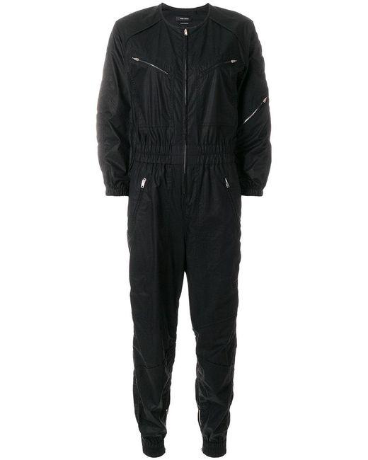 Isabel Marant - Black Zipped Jumpsuit - Lyst