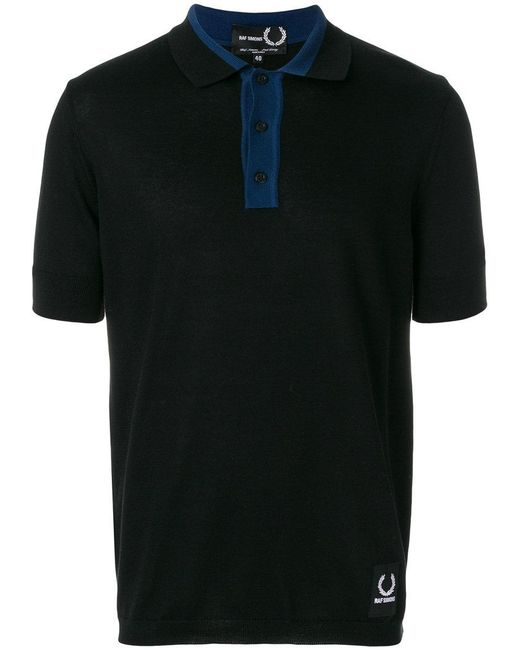 Fred Perry - Black X Raf Simons Knitted Sport Polo Shirt for Men - Lyst