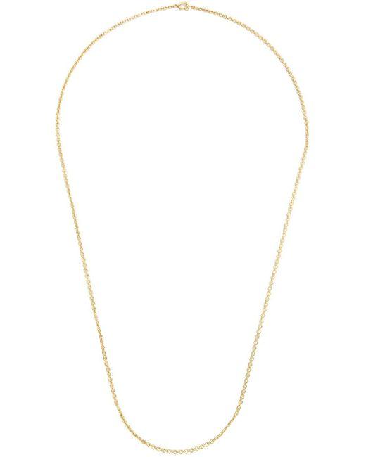 Irene Neuwirth Metallic 18kt Gold Oval Link Chain Necklace