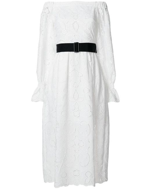 Perseverance London - White Embroidered Cut-out Dress - Lyst