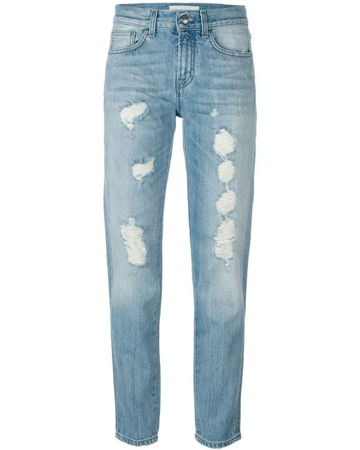 P.A.R.O.S.H. | Blue Royroger's X Distressed Jeans | Lyst