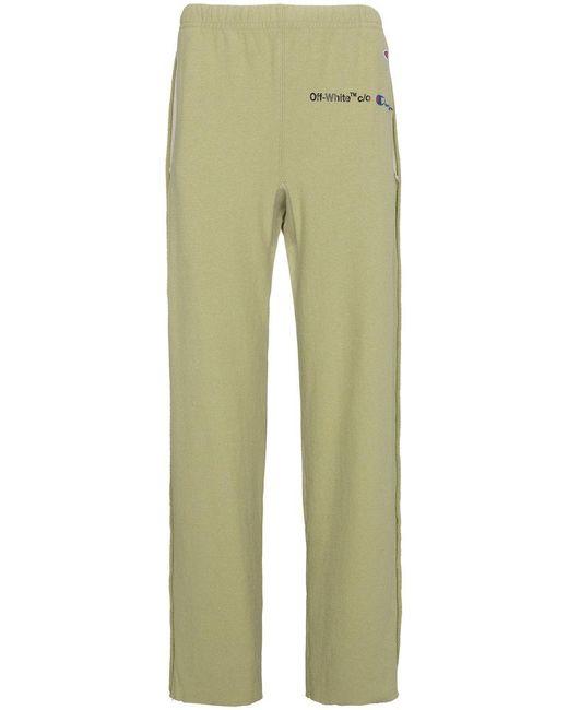 Off-White c/o Virgil Abloh - Green X Champion Sweatpants for Men - Lyst