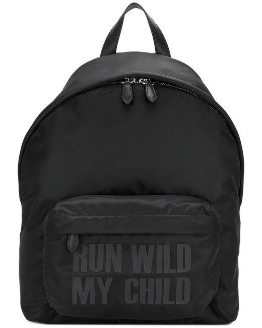 Givenchy - Black Slogan Print Backpack for Men - Lyst