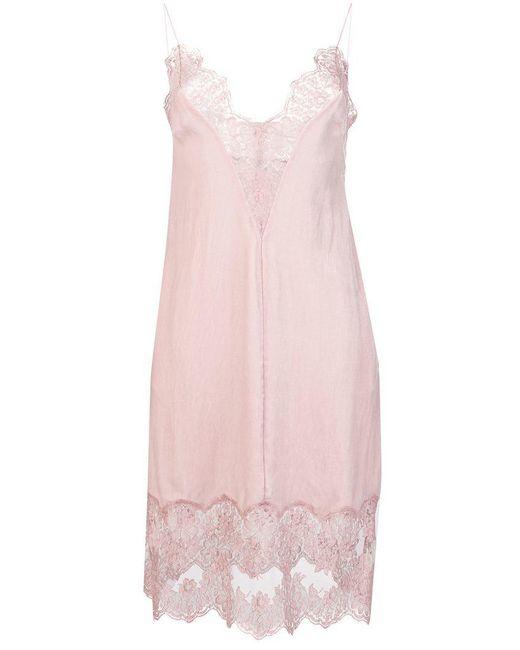 Stella McCartney - Pink Lace Slip Dress - Lyst
