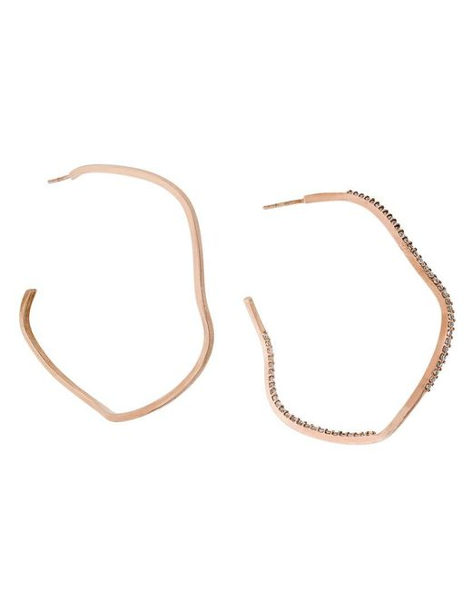 Maha Lozi - Metallic Wavelength Earrings - Lyst