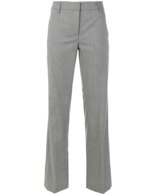 Dondup - Gray Straight-leg Trousers - Lyst
