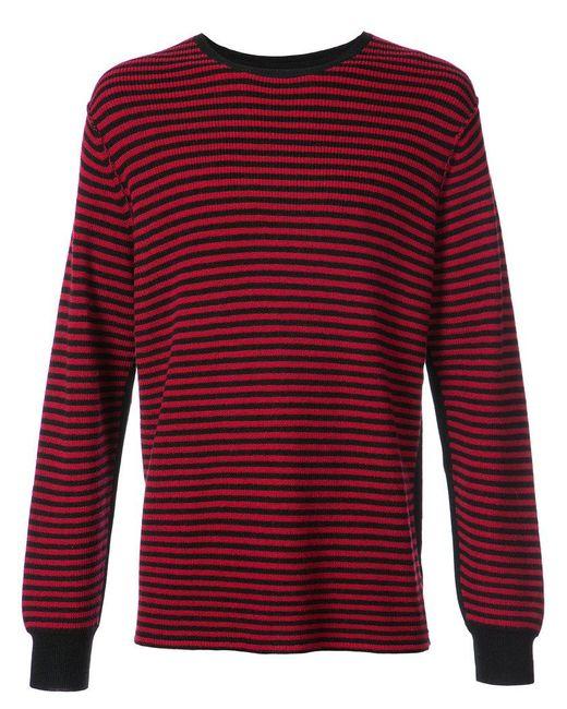 Saint Laurent Men Destryed Shoes Red Stripes