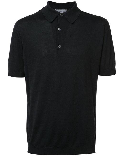 John Smedley - Black Adrian Polo Shirt for Men - Lyst