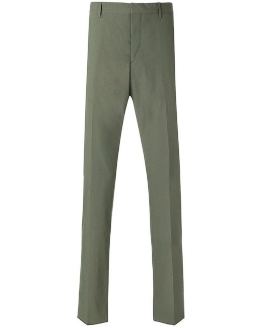 Prada - Green Classic Straight Leg Trousers for Men - Lyst