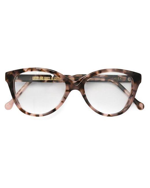 Cutler & Gross   Brown Cat Eye Frame Glasses   Lyst